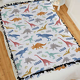 Dinosaur World Tie Blanket