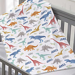 Dinosaur World Small Plush Fleece Blanket