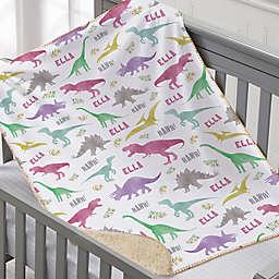 Dinosaur World Small Sherpa Blanket