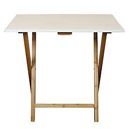 Eccostyle™ Bamboo Frame Folding Desk in White
