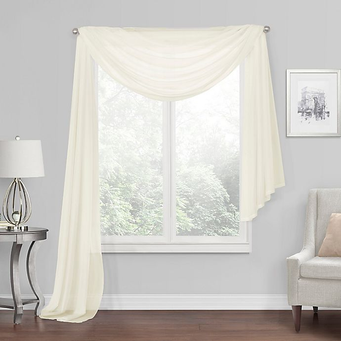 Alternate image 1 for Simply Essential™ Voile Sheer Scarf Valance