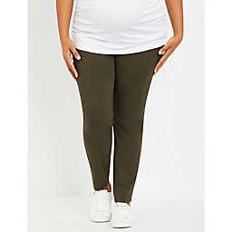 Motherhood Maternity® 1X Maia Skinny Leg Maternity Ankle Pant in Green