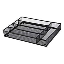 Squared Away™  Small Mesh Flatware Organizer  in Matte Nickel
