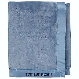 """carter's® Baby/Toddler """"TINY BUT MIGHTY"""" Fuzzy Cotton Gift Blanket in Blue"""
