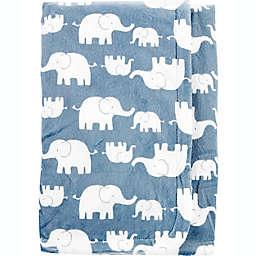 carter's® Elephant Plush Blanket in Blue