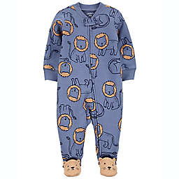 carter's® Lions 2-Way Zip Sleep & Play in Blue/Brown