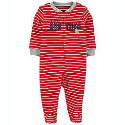 carter's® Newborn Little Brother 2-Way Zip Sleep & Play in Red Stripe