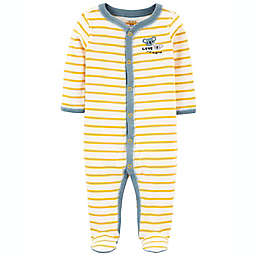 carter's® Size 3M Kohala Snap Up Footie Sleep and Play in Yellow/Blue