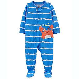 carter's® Tie Dye Crab Loose Fit Footie Pajama in Blue