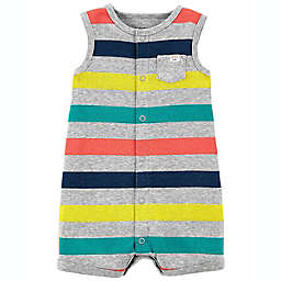 carter's® Striped Snap-Up Romper