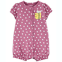 carter's® Polka Dot Bee Snap-Up Romper in Pink