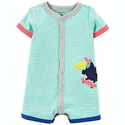 carter's® Size 3M Bird Snap-Up Romper in Green
