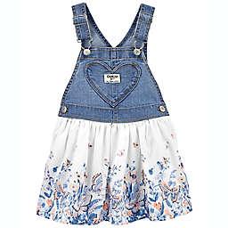 OshKosh B'gosh® Heart Pocket Floral Skirted Jumper in Blue