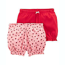 carter's® 2-Pack Bubble Shorts in Pink