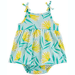 carter's® Floral Sunsuit in Blue/Yellow