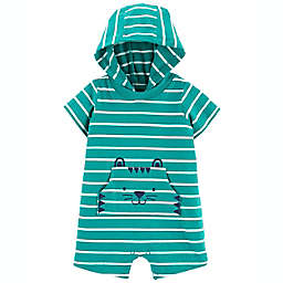 carter's® Size 3M Hooded Tiger Romper in Green