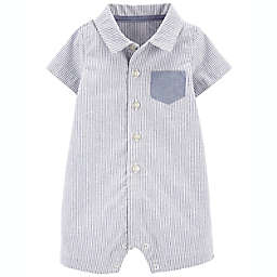 carter's® Oxford Striped Romper in Blue