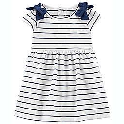 carter's® Striped Short Sleeve Jersey Dress in Navy