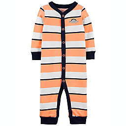 carter's® Size 3M Striped Dinosaur Footless Zip-Up Sleep & Play Coverall