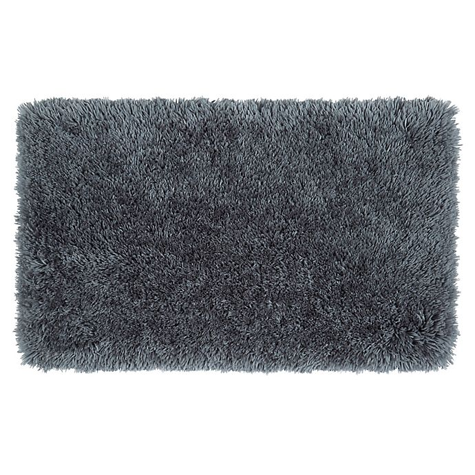 Alternate image 1 for Simply Essential™ Plush 2'2 x 3'8 Shag Accent Rug in Grey/Charcoal