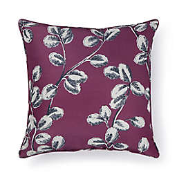 Bee & Willow™ Fine Foliage Square Outdoor Throw Pillow in Amaranth