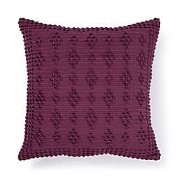 Bee & Willow™ Knotted Loop Square Outdoor Throw Pillow in Amaranth
