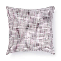 Bee & Willow™ Textured Woven Square Outdoor Throw Pillow in Amaranth