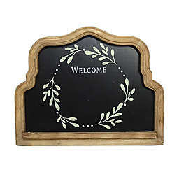 """Bee & Willow™ 12-Inch x 5-Inch """"Welcome"""" Scalloped Framed Chalk Board"""