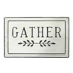 """Bee & Willow™ """"GATHER"""" Metal Wall Art in Black/White"""