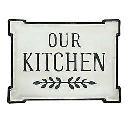 """Bee & Willow™ """"OUR KITCHEN"""" Metal Wall Art in Black/White"""