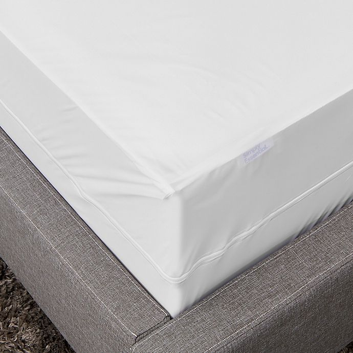Alternate image 1 for Simply Essential™ Vinyl Zippered Waterproof Twin Mattress Protector