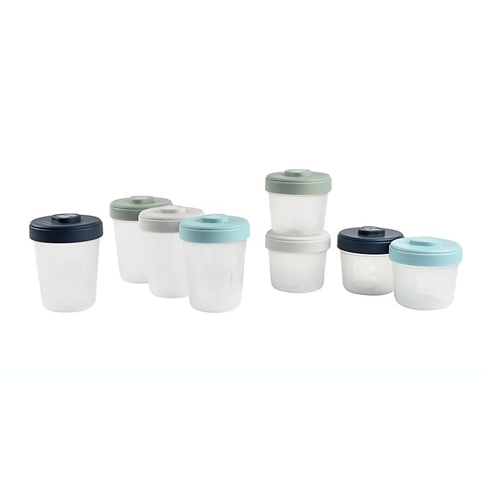 Alternate image 1 for BEABA® Clip 8-Piece Large Food Storage Container Set