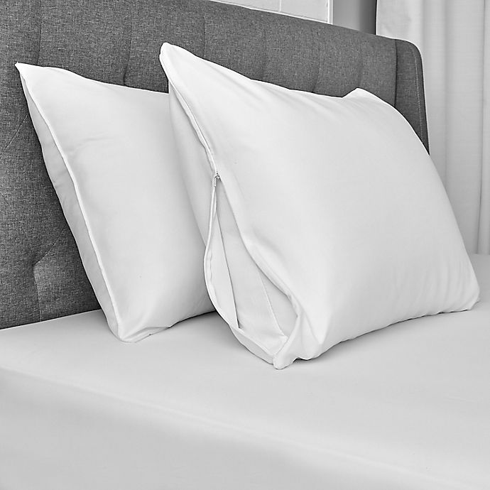 Alternate image 1 for Simply Essential™ Microfiber Standard/Queen Pillow Protectors (Set of 2)