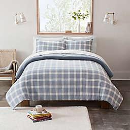 UGG® Devon 2-Piece Reversible Twin/Twin XL Comforter Set in Tahoe Blue Plaid