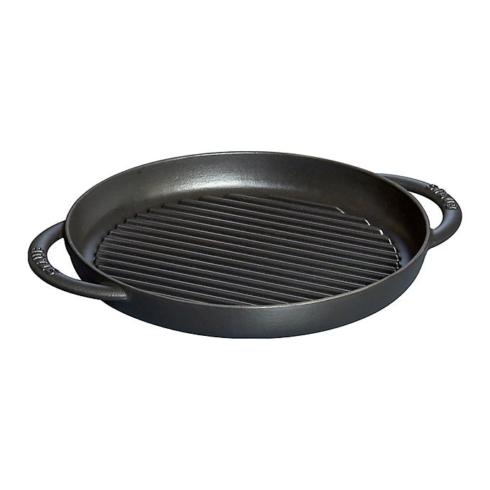 Alternate image 1 for Staub 10-Inch Cast Iron Pure Grill in Black Matte