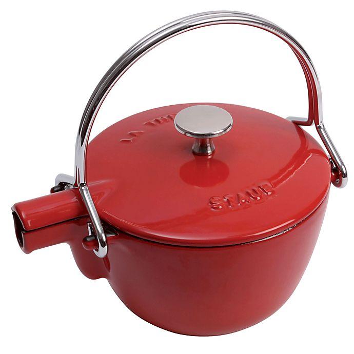 Alternate image 1 for Staub Round Cast Iron 1-Quart Teapots/Kettles