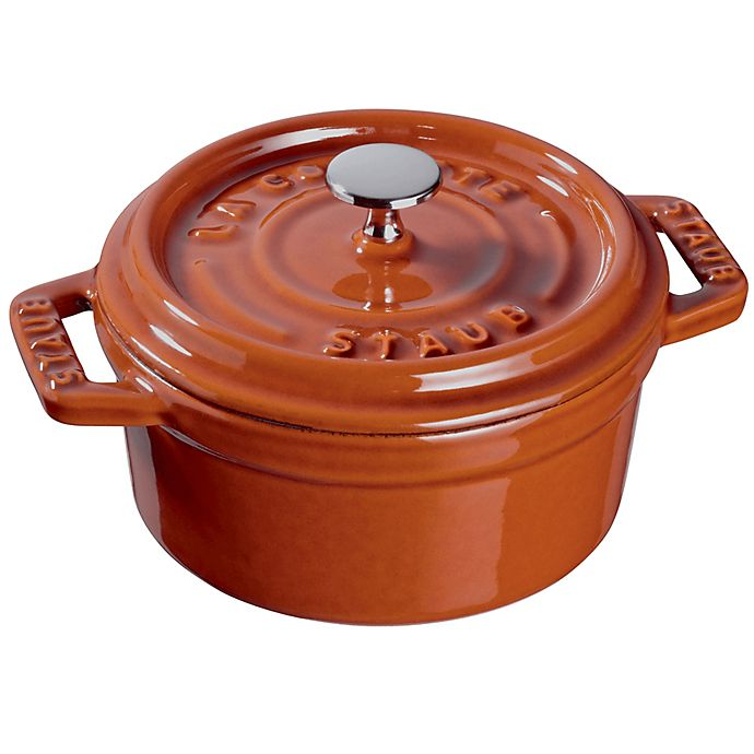 Alternate image 1 for Staub Round Mini Cocotte in Burnt Orange