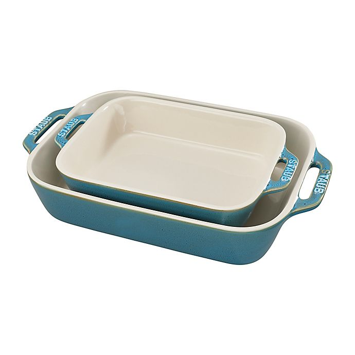 Alternate image 1 for Staub® 2-Piece Rectangular Baking Dish Set