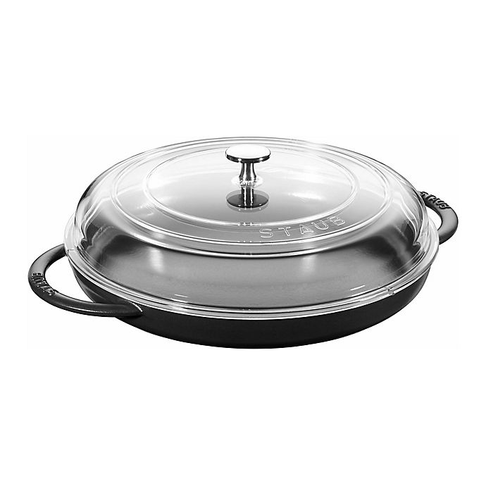 Alternate image 1 for Staub 12-Inch Enameled Cast Iron Covered Round Steam Griddle