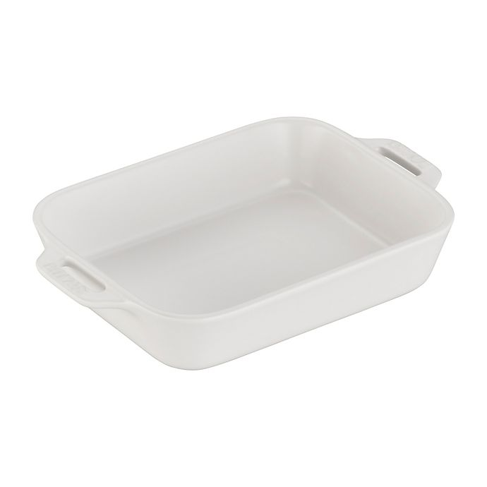 Alternate image 1 for Staub 7.5-Inch x 6-Inch Rectangular Baking Dish in Matte White
