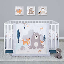 Sammy & Lou 4-Piece Bear and Buddies Crib Bedding Set in Navy/Blue
