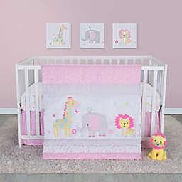 Sammy & Lou 4-Piece Jungle Girl Crib Bedding Set in Pink/Blue
