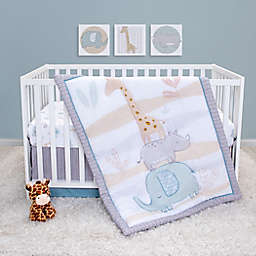 Sammy & Lou 4-Piece Safari Babies Crib Bedding Set in Blue/Teal