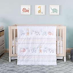 Trend Lab® 3-Piece Crayon Jungle Cotton Crib Bedding Set in Grey/Orange