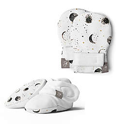 goumi® Preemie Many Moons Mitt and Boot Set in White
