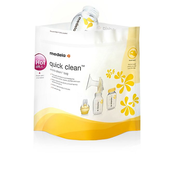 Alternate image 1 for Medela® Quick Clean™ 5-Pack Micro-Steam™ Bags