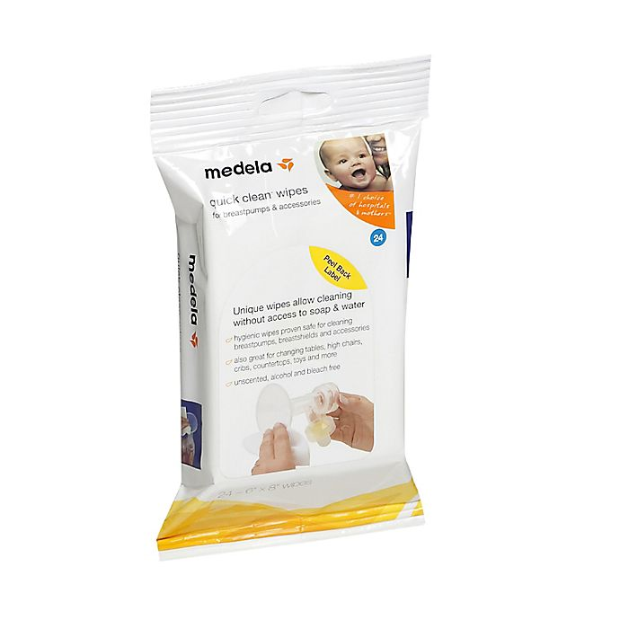 Alternate image 1 for Medela® Quick Clean 24-Count Breastpump and Accessory Wipes
