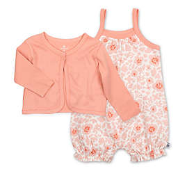 The Honest Company® 2-Piece Floral Bubble Romper and Cropped Cardigan Set in Peach