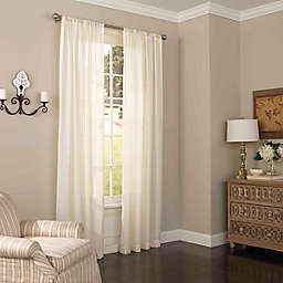 Eclipse Chelsea Light Filtering Rod Pocket Sheer 84-inch Window Curtains in Ivory (Single)