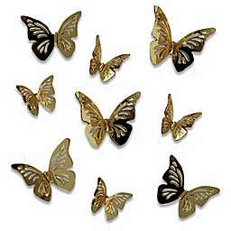 RoomMates® 3D Peel & Stick Butterfly Mirror Stickers in Gold